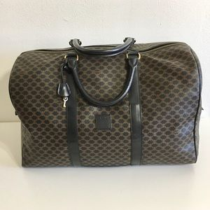 Authentic Celine Coated Canvas Travel bag brown